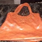 Large Orange Ladies  Designer Tote/Purse
