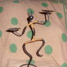 Wrought Iron dancing native candle holder