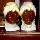 Royal Copley Blackamoor Couple Head Wall Pockets (Man and Woman)