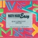 Math Made Easy: Quick Percents QPR 100 (VHS)