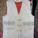 Western Men's Designer Leather Vest by Ramos, Size 40