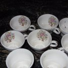 Floral Bouquet Vintage Tea Cup Set of 8 (1940's)