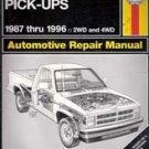 Dodge Dakota Pick-Ups 1987 - 1996 (Haynes Repair Manual)