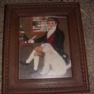 Vintage Victorian Boy and His Dog Print (Framed Print)