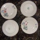 Edwin Knowles Vintage China Saucers, circa 1953 (set of 4)
