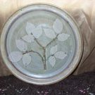 Shabby Chic Original Stoneware Art Pottery Plate (Dogwood Leaves