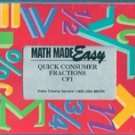 Math Made Easy: Quick Consumer Fractions CF1 (VHS)