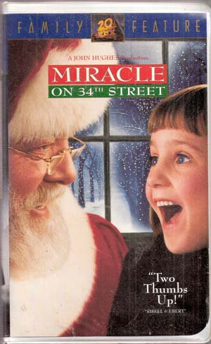 Miracle On 34th Street Vhs Movie Christmas Classic