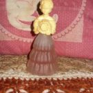 "Avon Decanter Fashion Girl ""Flower Girl"""