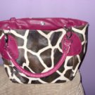Large Giraffe Animal Print Purse / Tote