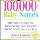 100,000 Baby Names by Bruce Lansky