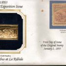 1893 Regular Issue 30-cent Columbian Exposition Issue 22kt Gold Replica Stamp