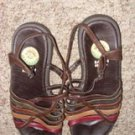 Multi Earth Tones Sandals by Earth Shoe, Size 6 1/2