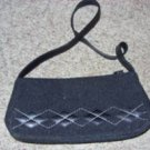 Black Wool and Leather Vintage purse by Etienne Aigner