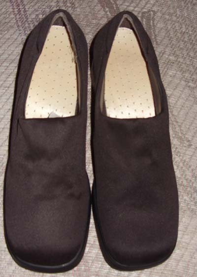 Brown Textile Upper Balance ladies Shoes, Size 9