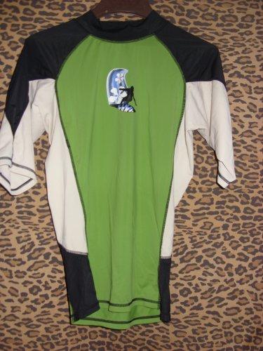 Kanu Green, Black and White Suffers Shirt, Size M