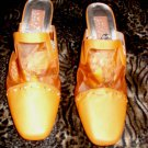 Retro 60's Orange High Heels, Size 11