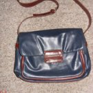 Rosetti Vinyl Navy Blue / Brown Trim Purse