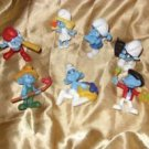 Smurf Figurine Set of 7, McDonalds Advertising Collectibles