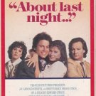 About Last Night (VHS Movie) Rob Lowe, demi Moore, James Belushi, Elizabeth Perkins 1986