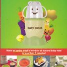Baby Bullet users Manual and Cookbook, 2009