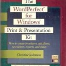 The Word Perfect Print & Presentation Kit by Christine Solomon