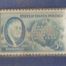 5 Cent Roosevelt 1946 Four Freedoms Postage Stamp (Scott No 933) Unused MINT