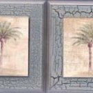Stylish Wooden Palm Tree Wall Plaque Set