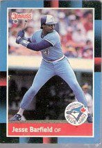 1988 Donruss Baseball Card No 442, Jesse Lee Barfield (Toronto Blue Jays)