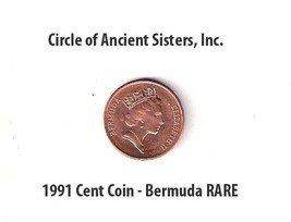 Bermuda Triangle, Bermuda 1 Cent Coin, 1991 Very Rare Charm