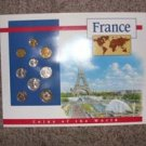 France Coins of the World Set of 9, Pre Euro