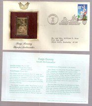 1997 First Day Issue US Postage Stamp &  22kt Gold Bugs Bunny Stamp
