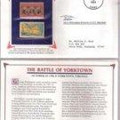 Battle of Yorktown Postage Stamp Set (1931-2 cent stamp , 1981 18-cent stamp)