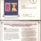 George Washington Inaugurated Stamp Set ( 1939 3-cent & 1989 25-cent)