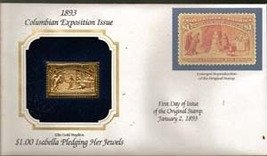 1893 Columbian Exposition Issue, 1.00  22kt Gold Stamp