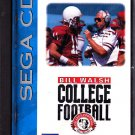 Bill Walsh Football - Sega CD video game - complete