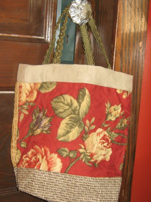 Handmade Hobo Bag Purse Hobo Bag Handle Floral   #01