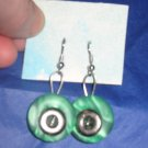 Antique Button Earrings Handmade Old button Jewelry  #040