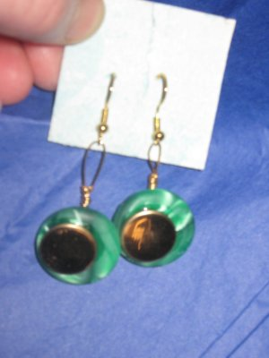 Antique Button Earrings Handmade Old button Jewelry  #041