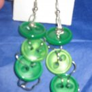 Antique Button Earrings Handmade Old button Jewelry  #043