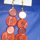 Antique Button Earrings Handmade Old button Jewelry  #047
