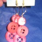Antique Button Earrings Handmade Old button Jewelry  #053
