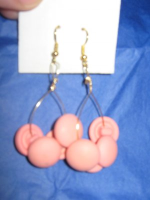 Antique Button Earrings Handmade Old button Jewelry  #055