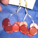 Antique Button Earrings Handmade Old button Jewelry  #071
