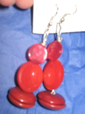 Antique Button Earrings Handmade Old button Jewelry #073