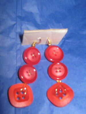 Antique Button Earrings Handmade Old button Jewelry  #075
