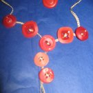 Antique Button Earrings Handmade Old button Jewelry  #077