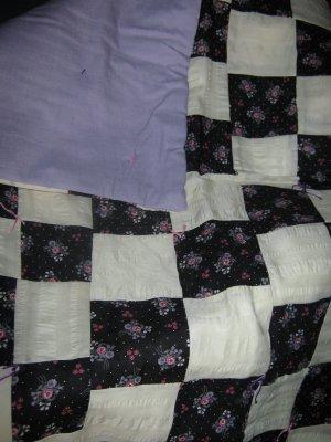 Handmade Baby Quilt Patchwork Nursing, Carseat Blanket  #017