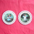 Bradford Editions Heavens Little Sweethearts Angels Innocence & Protection set of 2 ornaments