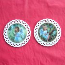 Bradford Editions Heavens Little Sweethearts Angels Guidance & Blessing set of 2 ornaments